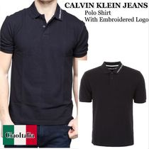 Calvin klein jeans  polo shirt with embroidered logo