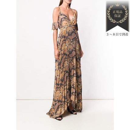 Just Cavalli ワンピース 新作すぐ届く▼cold-shoulder maxi ワンピース(3)