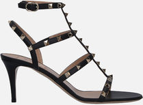 【VALENTINO】Rockstud sandals in smooth leather