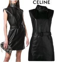 【19SS】★CELINE★leather dress