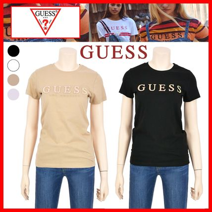 Guess Tシャツ・カットソー ☆韓国の人気☆【GUESS】☆ホログラム GUESS 半袖Tシャツ☆4色☆