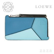 LOEWE★ロエベ Puzzle Coin/Card Holder Blue Multitone