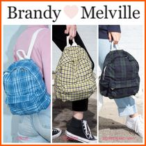 NEW!!  ☆Brandy Melville☆ PLAID BACKPACK