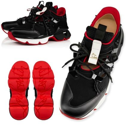 【Christian Louboutin】Red Runner  Flat ブラック スニーカー