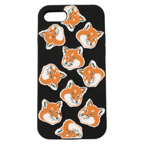 即配★MAISON KITSUNE IPHONE CASE 3D ALL-OVER FOX HEAD 黒系