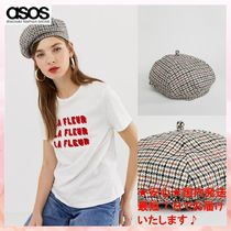 【送料込 ASOS】ツイードベレー ASOS DESIGN check tweed beret