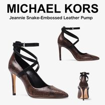 【Michael Kors】Jeannie スネイクエンボスレザーパンプス★美脚