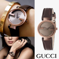 【関税・送料込】GUCCI★Interlocking G Small Brown Dial