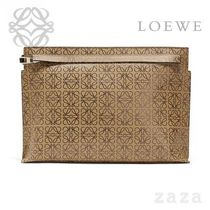 LOEWE★ロエベ T Pouch Repeat Mocca/Black