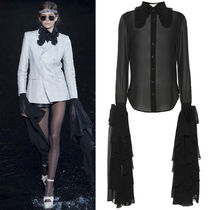 19SS WSL1472 LOOK62 WASHED SILK SHIRT WITH OVERSIZED SLEEVES