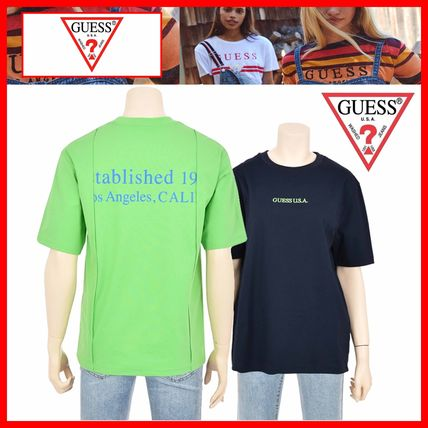 Guess Tシャツ・カットソー ☆韓国の人気☆【GUESS】☆登板 LETTERING 半袖Tシャツ☆2色☆