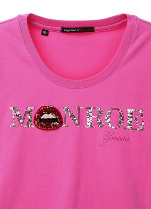Guess Tシャツ・カットソー ☆人気☆【GUESS X MARILYN】☆MONROE ロゴ 半袖Tシャツ☆3色☆(2)