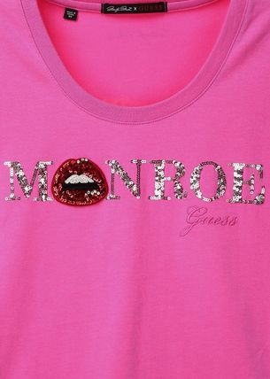 Guess Tシャツ・カットソー ☆人気☆【GUESS X MARILYN】☆MONROE ロゴ 半袖Tシャツ☆3色☆(3)