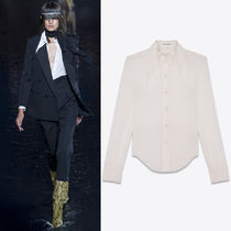 19SS WSL1480 LOOK1 SILK BLOUSE WITH OVERSIZED COLLAR