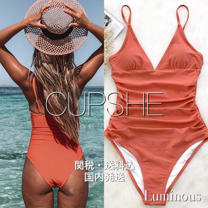 2019SS【CUPSHE】BRIGHT DAY SHIRRING ONE-PIECE SWIMSUIT
