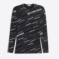MONOGRAM PRINT FITTED T-SHIRT IN BLACK/WHITE