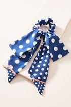 【Anthropologie】新作!可愛いPolka-Dotted Scarf ヘアゴム・Nav