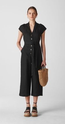 2a3a233c11 ... WHISTLES ワンピースその他 日本未発売  WHISLTES  Sana Linen Button Jumpsuit(2) ...