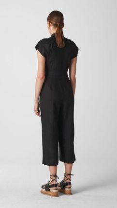 98fca64a70 ... WHISTLES ワンピースその他 日本未発売  WHISLTES  Sana Linen Button Jumpsuit(3) ...