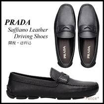 *PRADA*Saffiano Leather Driving Shoes 関税/送料込