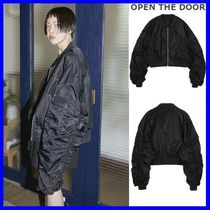 OPEN THE DOOR  O-ring ma-1 jumper(black) - UNISEX  /追跡付