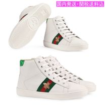 GUCCI☆GUCCI CHILDREN Ace leather high-top sneakers