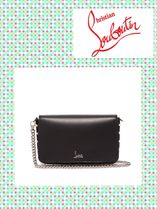 ChristianLouboutin/Zoompouch フォールドオーバー レザーバッグ