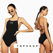 【TOPSHOP】Black Swimsuit By Calvin Klein【日本未入荷】