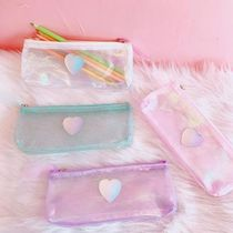 【Bentoy】Hologram Heart Pencil Case (2color)