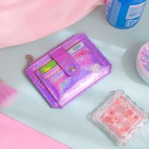 Bentoy(ベントイ) カードケース・名刺入れ 【Bentoy】Heart embroidered holographic card wallet(3color)