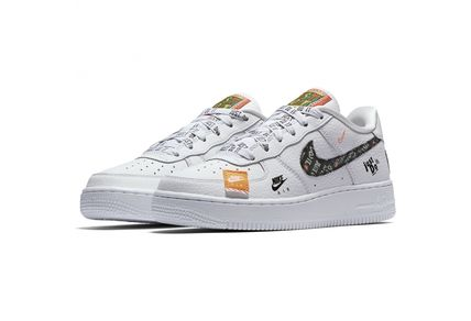 Nike キッズスニーカー SS18 NIKE AIR FORCE 1 JUST DO IT PACK GS WHITE 22.5-25cm(2)