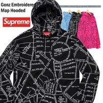 Supreme Gonz Embroidered Map Hooded Sweatshirt SS 19 WEEK 6