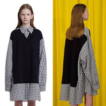 ★TRUNK PROJECT★ユニセックス Contrast Panel Oversize Shirts