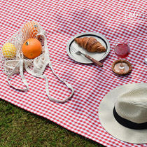 juhoDECO★RED CHECK PICNIC MAT(携帯用ECOバッグ付き)