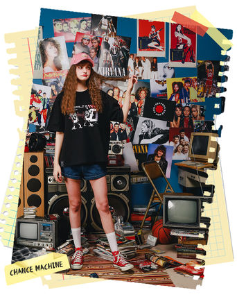 WV PROJECT Tシャツ・カットソー WV PROJECT★LOOSE FIT TIME TRAVELER半袖Tシャツ YRST7249 5色(2)
