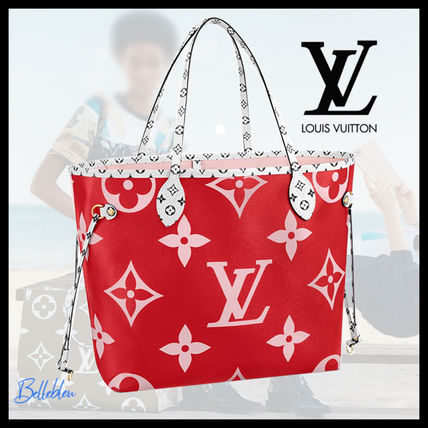 Louis Vuitton ショルダーバッグ・ポシェット 《大人気!》ルイヴィトン*NEVERFULL MM トートバッグ / Rouge