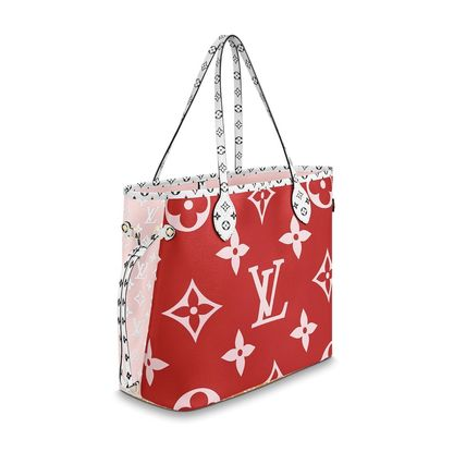 Louis Vuitton ショルダーバッグ・ポシェット 《大人気!》ルイヴィトン*NEVERFULL MM トートバッグ / Rouge(3)
