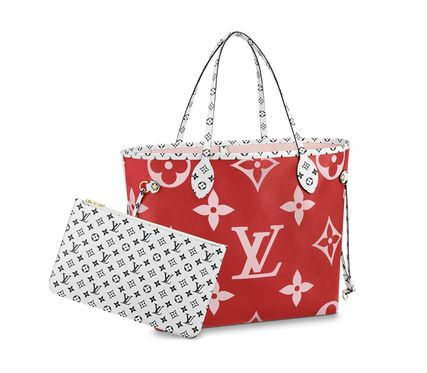 Louis Vuitton ショルダーバッグ・ポシェット 《大人気!》ルイヴィトン*NEVERFULL MM トートバッグ / Rouge(5)