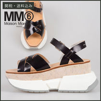 【MM6 Maison Margiela】 LEATHER SANDALS レザー サンダル 厚底