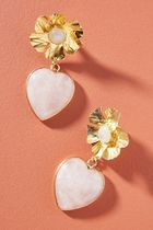 【Anthropologie】Nicola Bathie Jewelry Flower Heartピアス・W