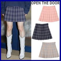 OPEN THE DOOR   check mini tennis skirt (3 color)  / 追跡付