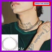 [OPEN THE DOOR]  silver chain choker necklace / 追跡付