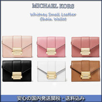 MICHAEL MICHAEL KORS☆Whitney Small Leather Chain Wallet