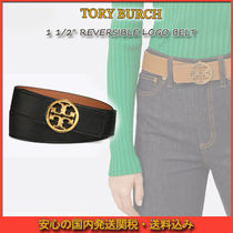 "TORY BURCH ☆1 1/2"" REVERSIBLE LOGO BELT ロゴ ベルト"