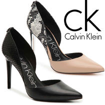 【SALE】Calvin Klein◆スネーク柄・レザーパンプス