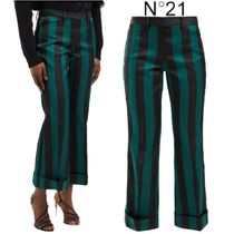 【19SS】★No21★Striped kick-flare crepe trousers