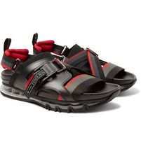 Leather-Trimmed Webbing Sandals サンダル
