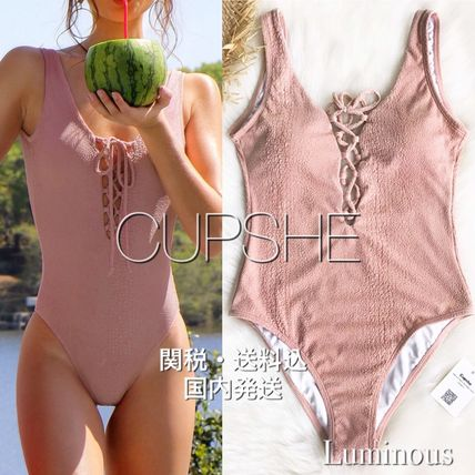 2019SS【CUPSHE】SWEET LOVE SOLID ONE-PIECE SWIMSUIT
