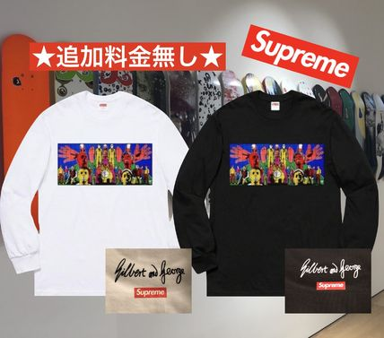 Supreme SS19 Week4 Gilbert & George DEATH After LIFE L/S Tee