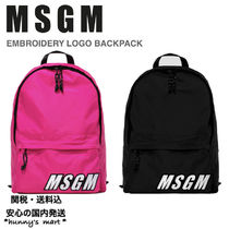 【MSGM】関送込 LOGO EMBROIDERY バックパック